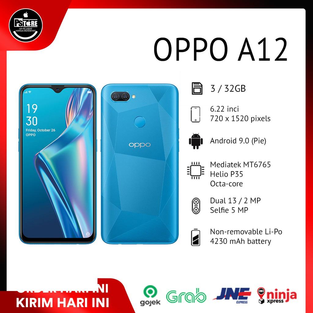 Oppo A12 Ram 4/64 - 3/32 GB NEW GARANSI RESMI 1 TAHUN ...