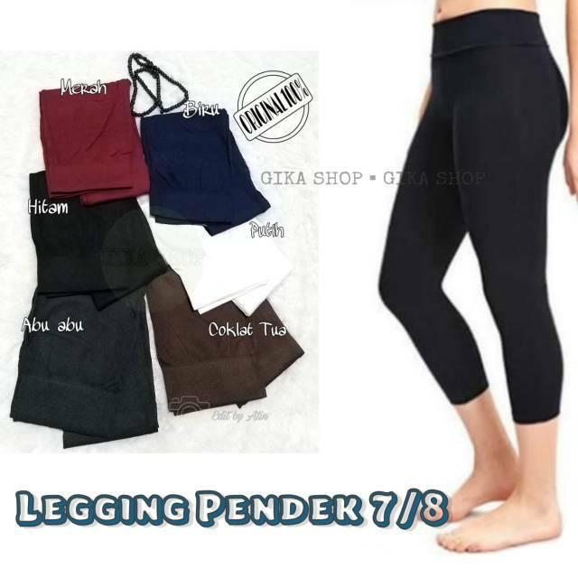 Legging Pendek 7 8 Legging Tebal 7 8 Celana Leging Pendek Celana Olahraga Wanita Highwaist Shopee Indonesia