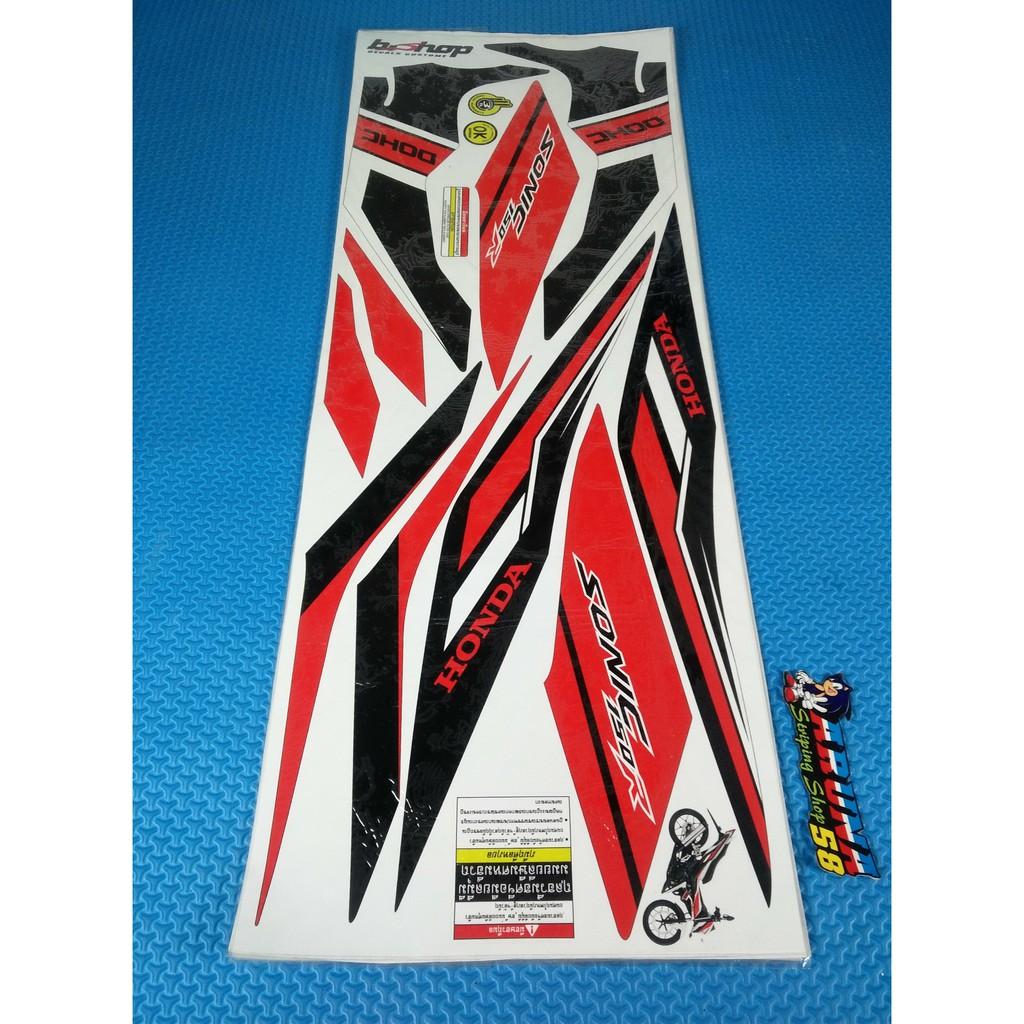 Striping Sticker Lis Motor Variasi Honda Sonic 150r Grafis Merah 1 4 Racing Red Karanganyar Shopee Indonesia