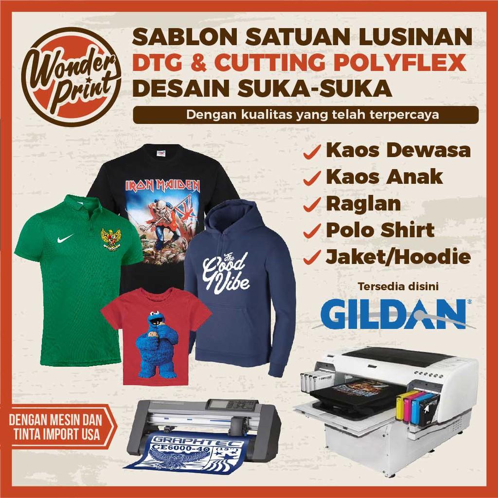 Sablon Kaos Satuan Dtg Polyflex Print Custom Gildan Polo Shirt Anak Printing Raglan Jaket Lengan Panjang Shopee Indonesia