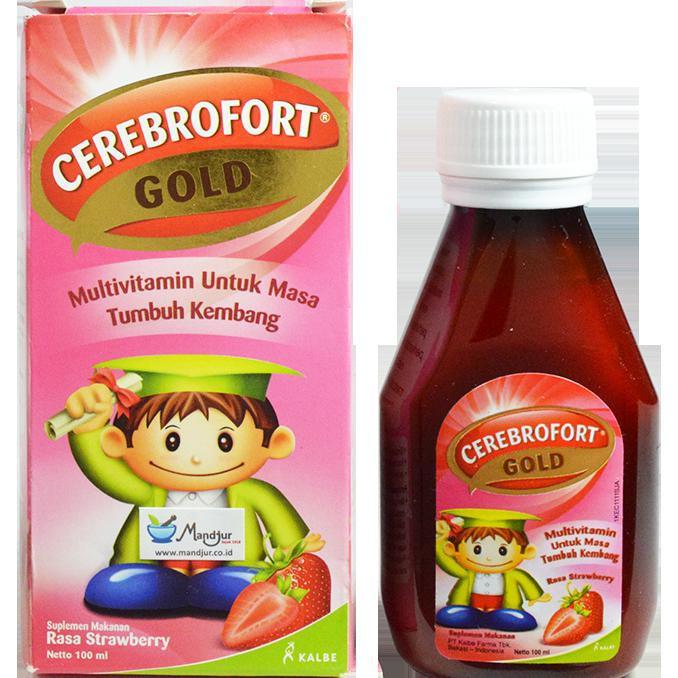 Cerebrofort Gold Rasa Strawberry 100 mL   Shopee Indonesia -. Source · Kalbe Cerebrofort Gold 200 Ml Multivitamin Anak Tumbuh Kembang Anak Source · Nutrisi ...