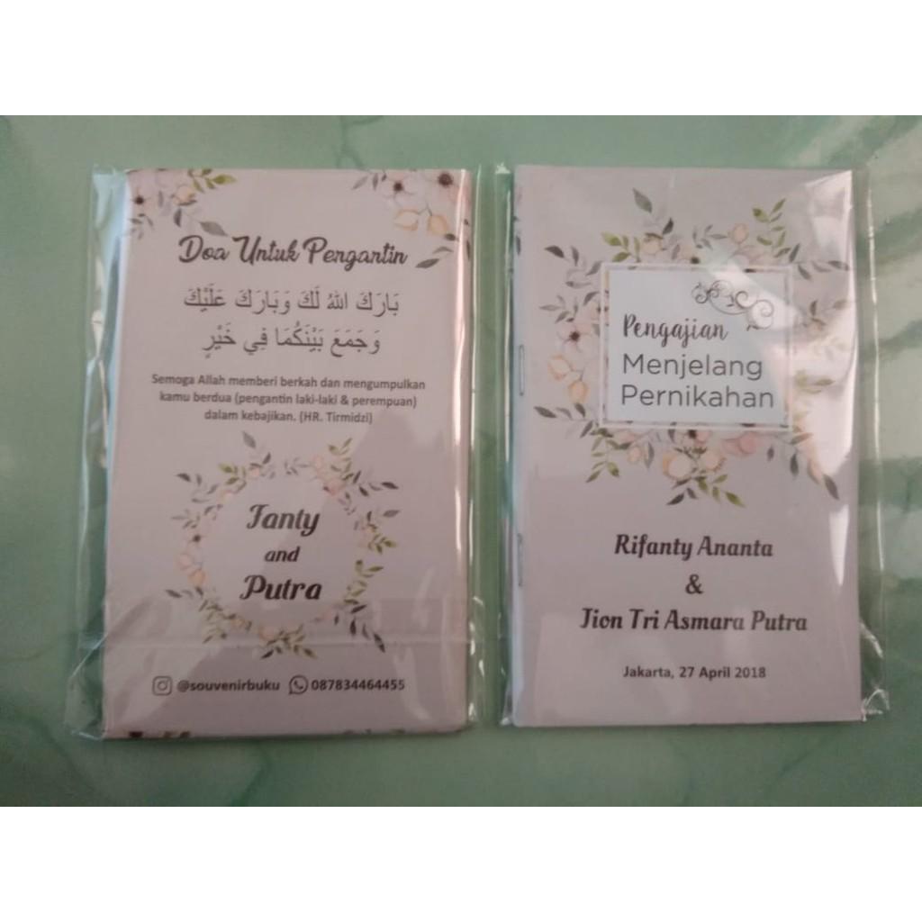 Souvenir Pernikahan Buku Doa Menjelang Pernikahan Cover Custom
