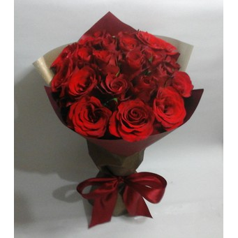 Kado Special Ulangtahun Wisuda Anniversary Hari Ibu Buket Bunga Mawar Segar  Rose Asli 20 tangkai  66ab0818ea