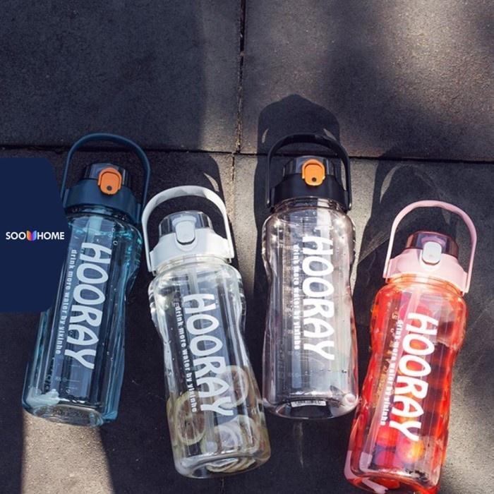 Botol Minum Hooray 2 Liter 2L Jumbo Besar Sport Straw Bottle Premium