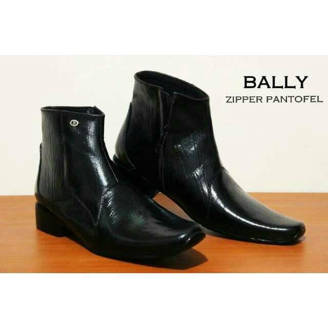 Sepatu Pantofel Cevany boots zipper resleting Original formal kerja kantor kulit  asli  77ebef7e7c