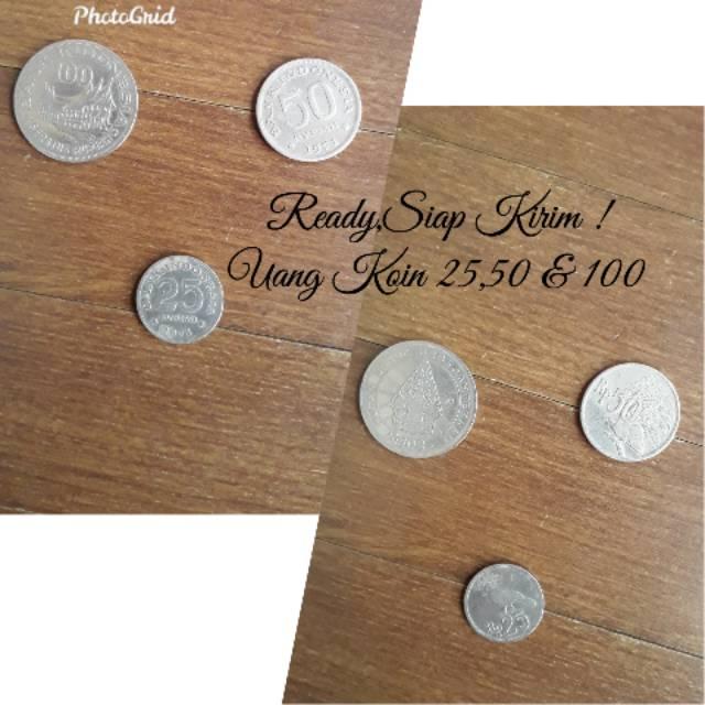 Uang Kuno / Uang Koin 25,50 & 100 Rupiah