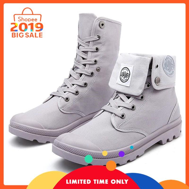 Sepatu Kulit Pria Terbaru Semi Boots Klasik Lace Up Original Crazy Horse  Leather  9b4a09fc3b