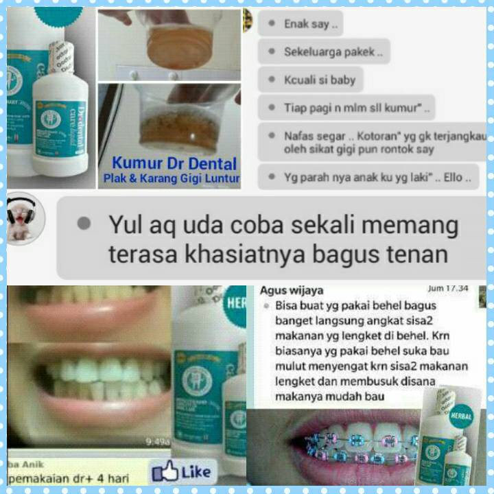 Dr Dental Care Liquid Obat kumur herbal BPOM pembersih gigi  53dc85806f