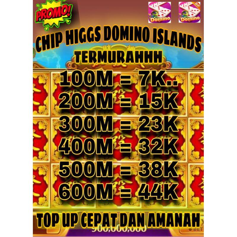 CHIP HIGGS DOMINO ISLANDS, COIN HIGGS DOMINO ISLANDS , Chip domino higgs islands Eceran MURAH!!!