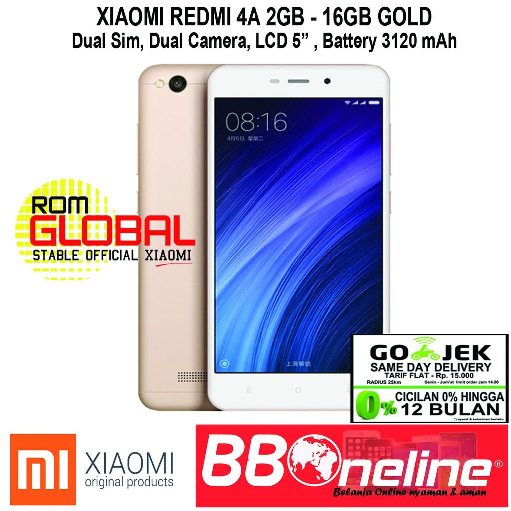 Xiaomi Redmi 4a Gold Bi Ram 2gb Internal 16gb Grs Distributor Prime Memori 32gb Garansi 1 Tahun Shopee Indonesia