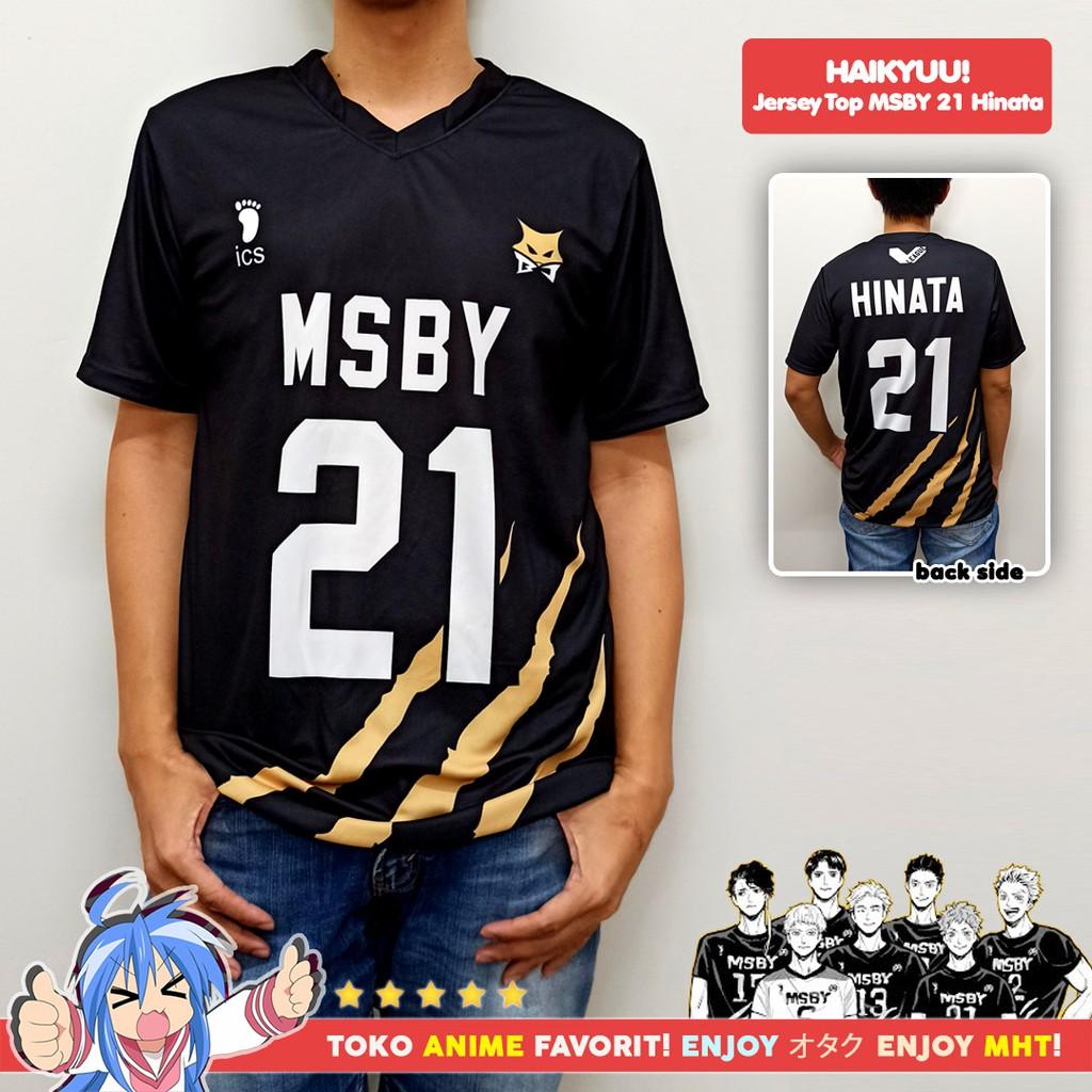 Kostum Anime Cosplay Haikyuu Kaos Atasan Jersey MSBY Black ...
