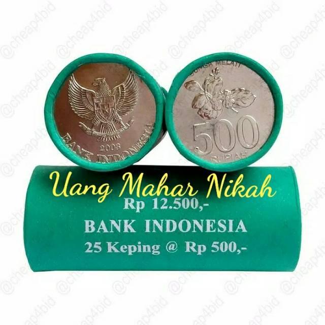 Gambar Uang Koin 500 Rupiah Uang Koin 500 Rupiah Tahun 2003 1 Roll 25 Keping Shopee