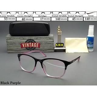[Promo] Frame kacamata minus VINTAGE kacamata minus frame korea vintage kotak | Shopee Indonesia