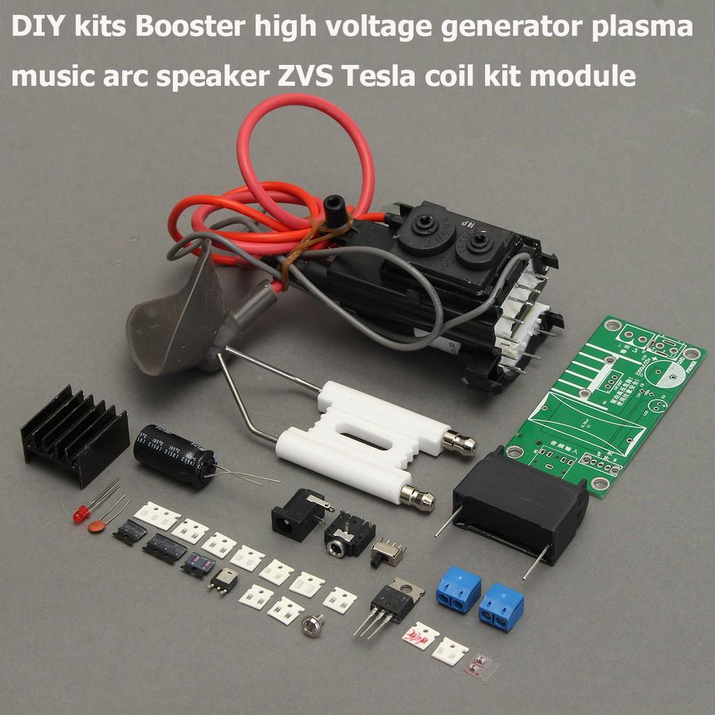 20KV High Voltage Generator ZVS Tesla coil Booster Plasma Music Arc Speaker CA
