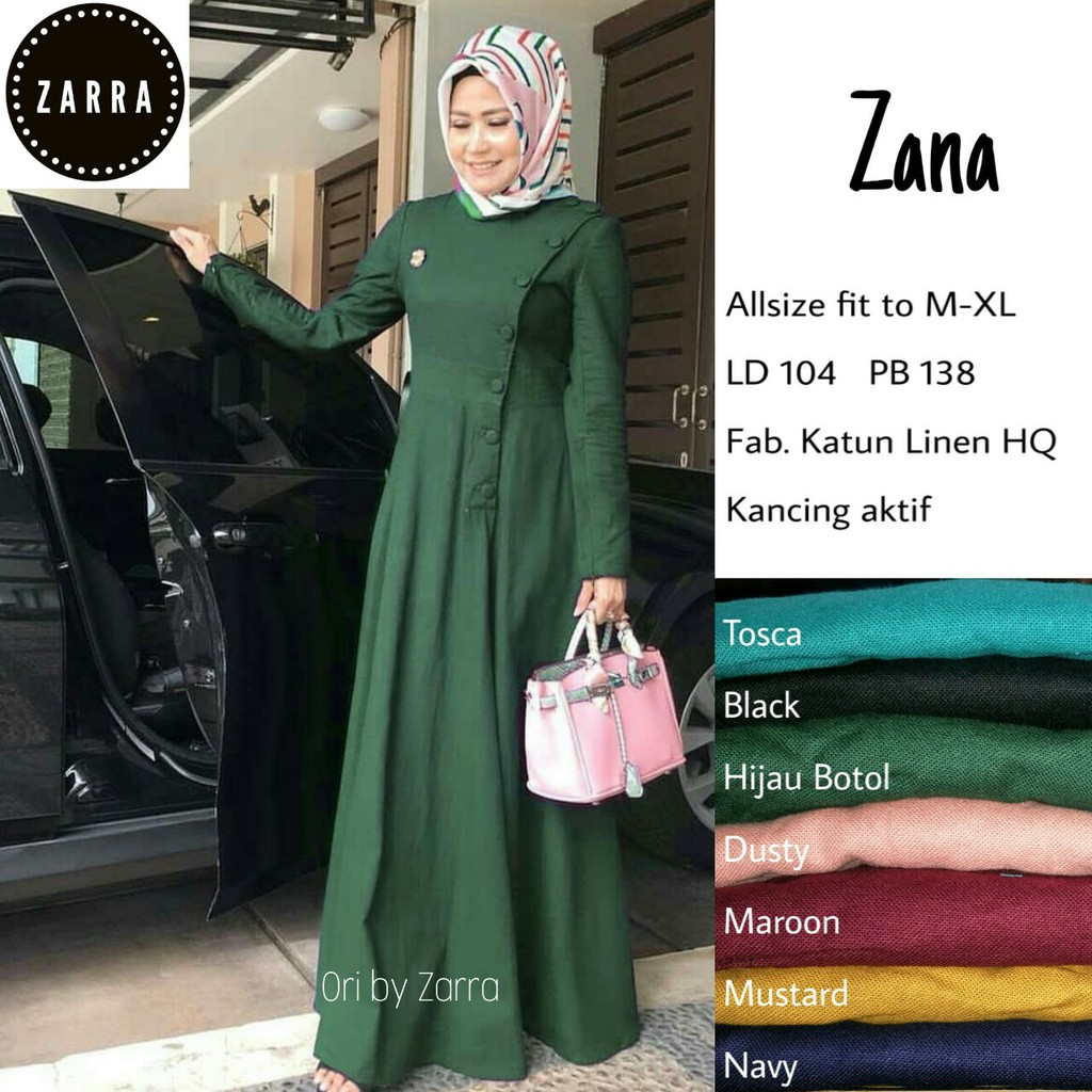 [NEW] Jual Baju Gamis Syari Maxi Dress matt Katun Linen HQ LD11 Model  Casual Termuah Best Seller