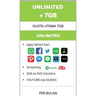 Indosat Unlimited +7GB