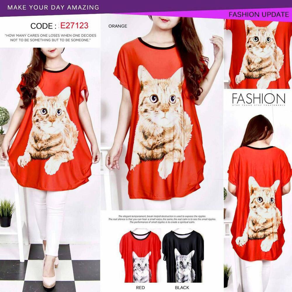 tunik blus kaos hijaber pakaian baju wanita atasan ukuran besar jumbo big size xxl trendy harga   Shopee Indonesia