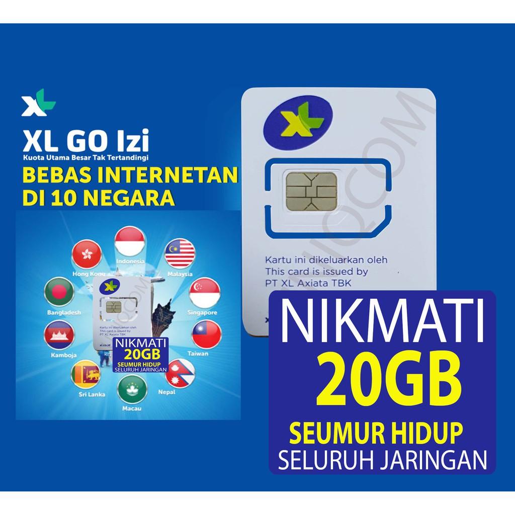 Xl Kartu Perdana Internet 11gb Xtra Combo Lite Hybrid Shopee Indonesia 25gb