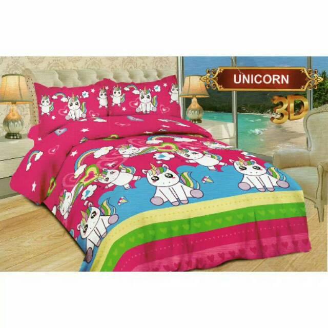 Bedcover Bonita Unicorn 180x200 Shopee Indonesia
