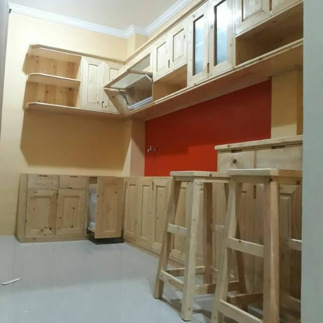 Kitchen Set Jati Belanda Finishing Melamine Natural Shopee Indonesia