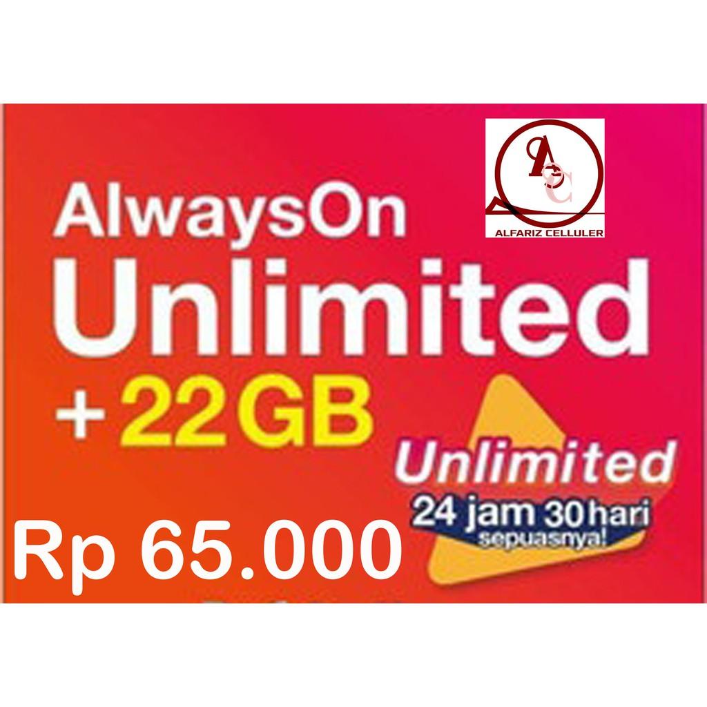 Paket data isi ulang Tri 22 gb + unlimited youtube/Tri 52 gb Nasional