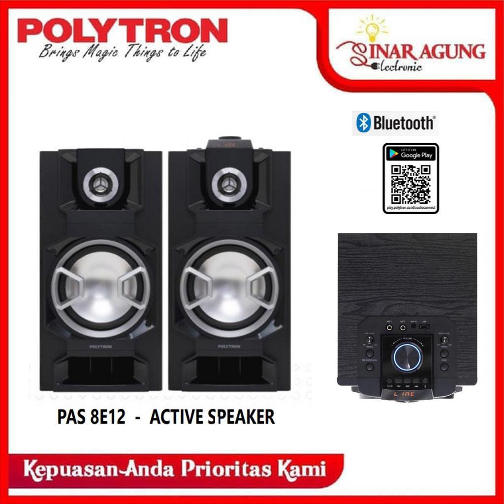 POLYTRON SPEAKER ACTIVE PAS8E12 PAS 8E12 BLUETOOTH - RESMI