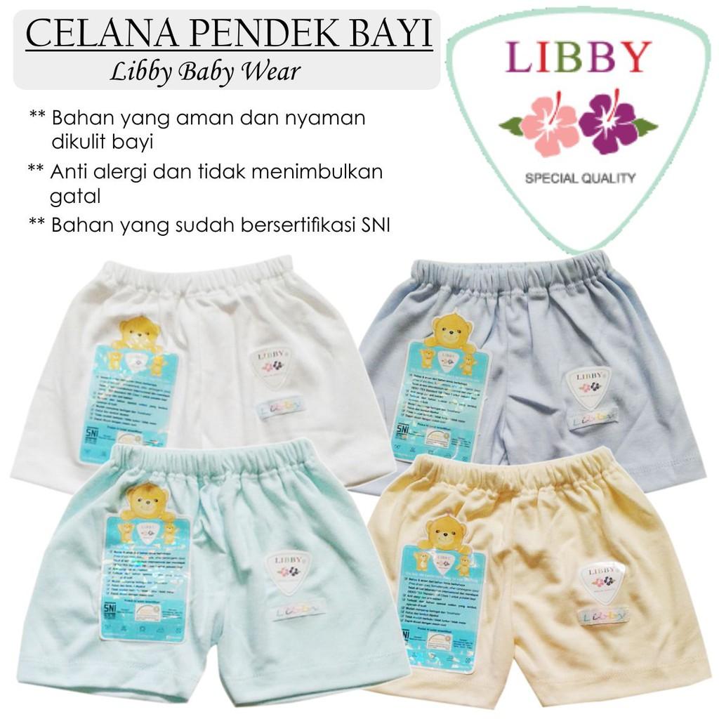 Celana Pendek Baby Bayi Polos Warna Libby Segi Empat Motif Size Newborn 3 Pcs Shopee Indonesia