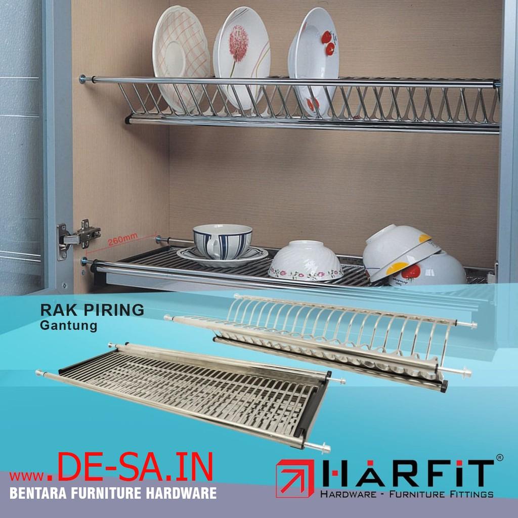 Harfit Rak Piring 70 Cm High Quality Stainless Steel Kabinet Dapur Dish Rack Pantry Kitchen Shopee Indonesia