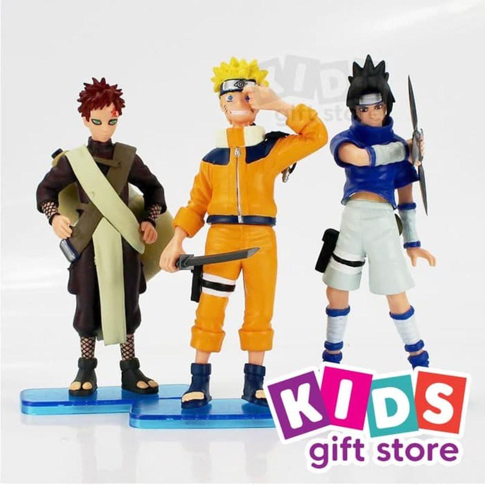 Mainan Action Original 6pcs/set Pop Naruto Sasuke Uzumaki Kakashi Gaara Action With Mounts Figures | Shopee Indonesia