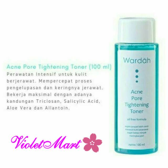 Wardah Acne Pore Tightening Toner Pembersih Kulit Berjerawat Shopee Indonesia