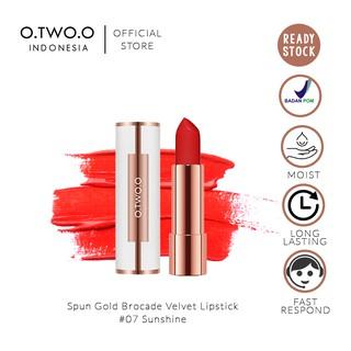 O.TWO.O Spun Gold Brocade Velvet Lipstick 4gr No. 07 Sunshine Love (Lipstik Matte Yang Lembut) thumbnail
