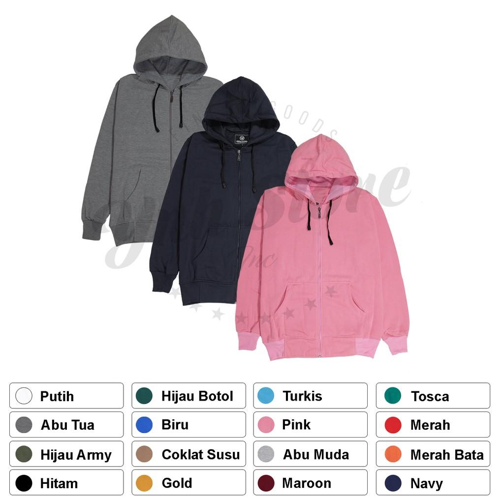 Cottonology Kemeja Jaket Zipper Shopee Indonesia Camden Merah L