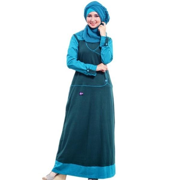 Baju Muslim Busana Muslim Baju Gamis Mutif Model 103 Warna Hijau