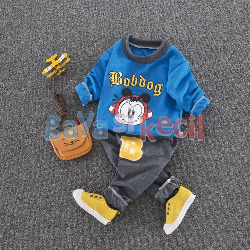Baju Tidur Piyama Anak Cowok Laki Beruang Baseball Kuning Navi Abu Cowo Motif Keren Import Shopee Indonesia