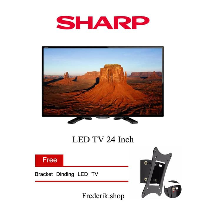 "Sharp 24"" Aquos LED TV - Hitam - Model LC-24LE175I / 24le175 Khusus JADETABEK | Shopee Indonesia"