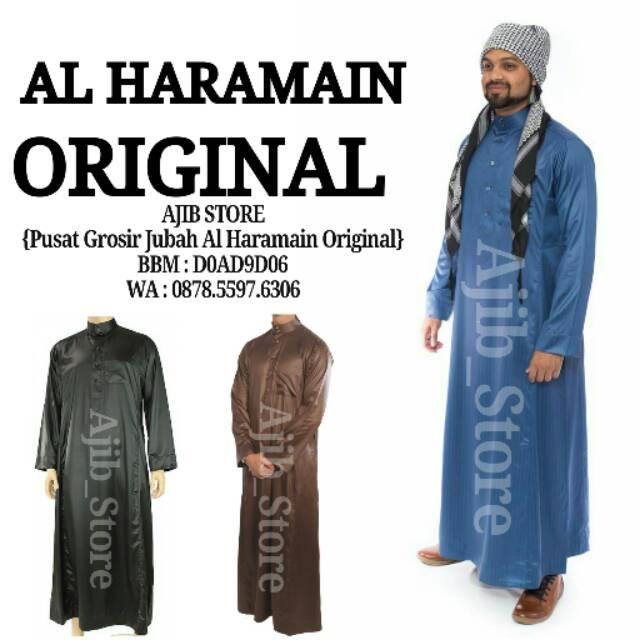 100 Original Jubah Alharamain Al Haramain Baju Gamis Pria Arab