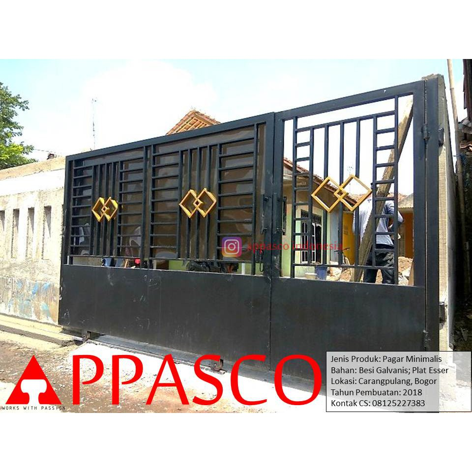 Pagar Minimalis Modern Plat Esser Di Carangpulang | Shopee Indonesia
