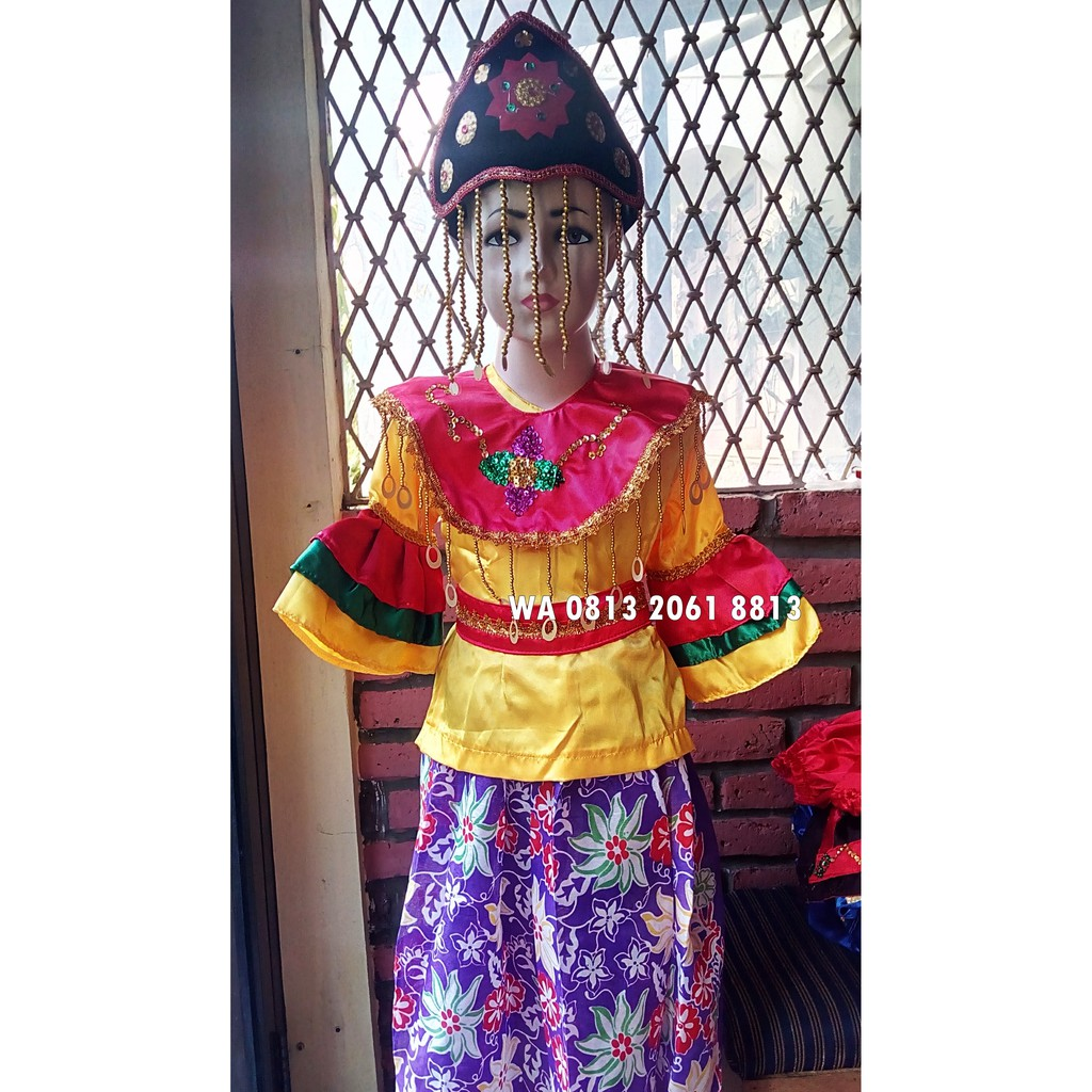 Baju Tari Kicir2 Paud Tk Adat Karnaval Kostum Tari Anak