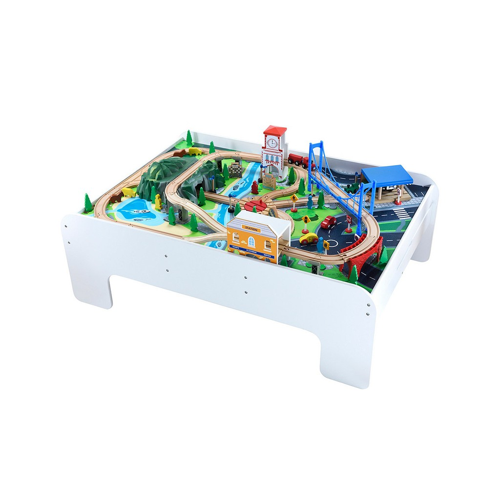 Elc Wooden Train Table 143376 Shopee Indonesia