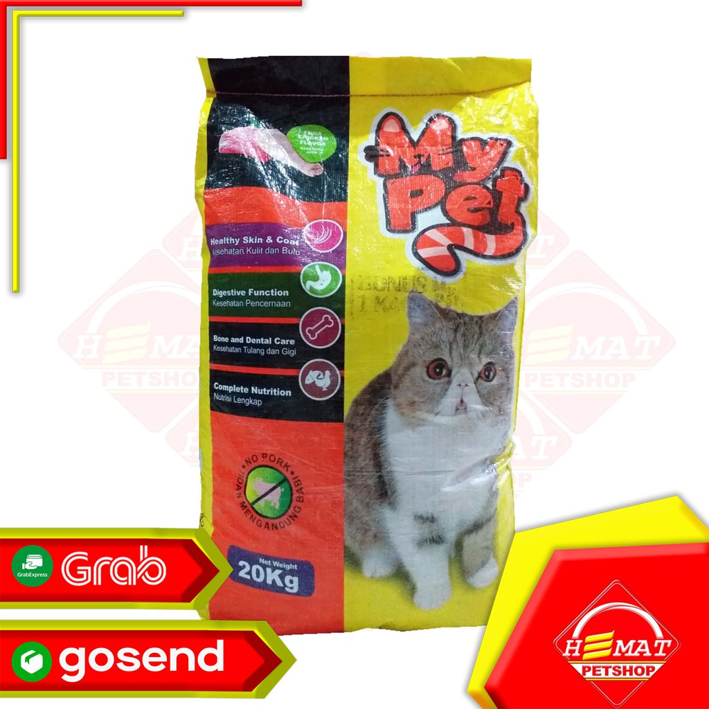 Makanan Kucing My Pet 20 Kg My Pet Donat Ikan 20 Kg Gosend Only Shopee Indonesia