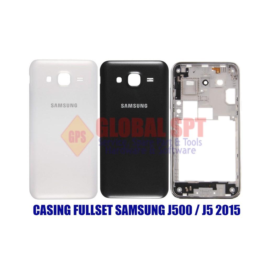 Casing Cassing Kesing Housing Samsung J5 J500h J500g 2015 Fullset Backdoor Tutup Belakang Baterai J2 Galaxy J500 Shopee Indonesia