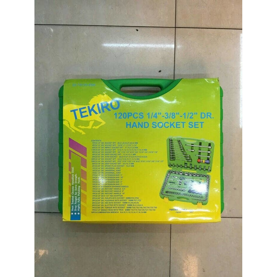 Tekiro Socket Set 18 Pcs 3 8 Inch 6 22 Mm 12pt Box Plastik 1 2 Kunci Sock 12 Pt 14 Mata Sok Anak Shopee Indonesia