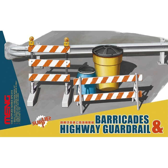 Barricades and Highway Guardrail MENG-Model SPS-013