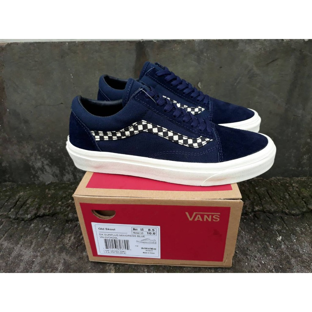 ORIGINAL DT VANS OLD SKOOL DX SURPLUS MIX DRESS BLUE  48e022370b