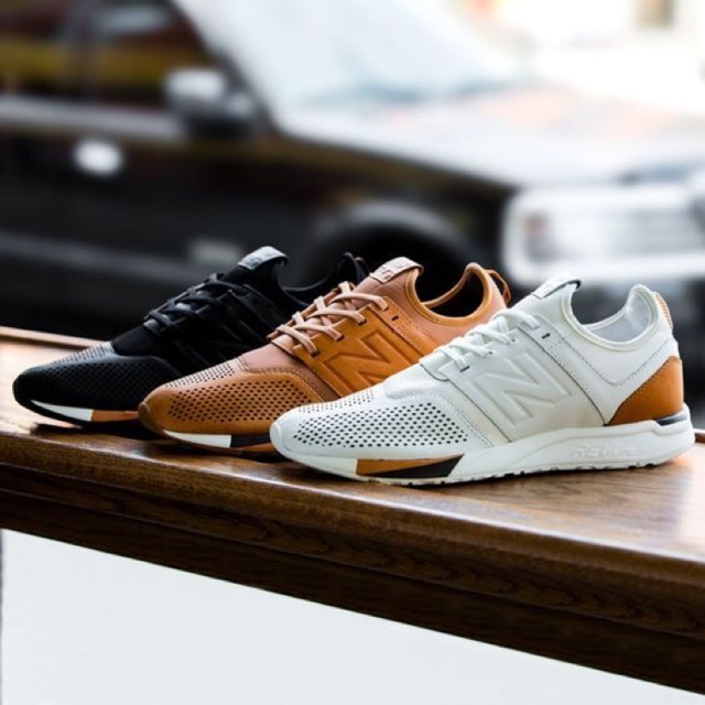 Sepatu New Balance 247 Leather Pack x Luxe Brown Black White