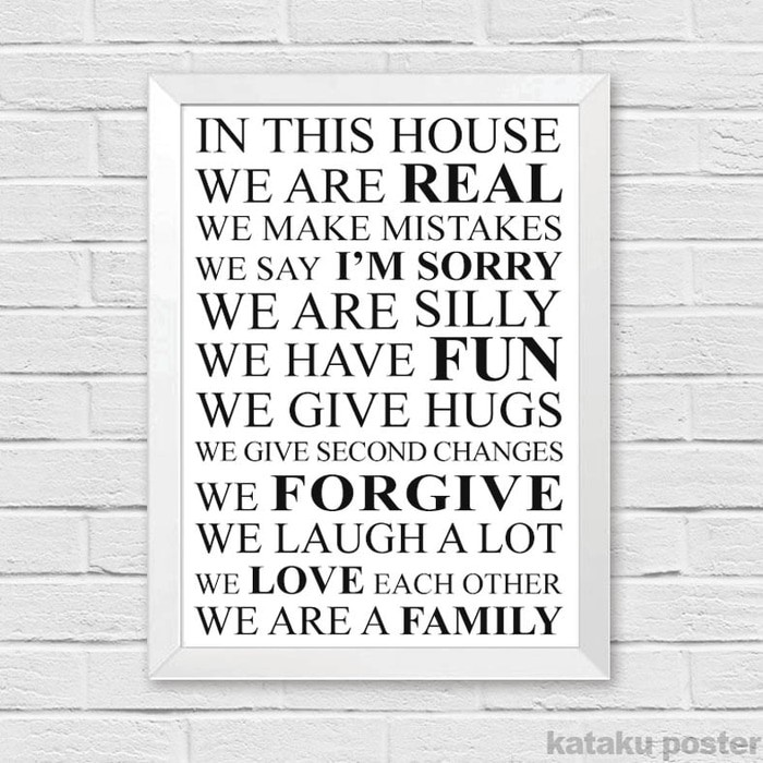 PALING DICARI Hiasan Dinding Rumah Quote - Our family is filled with hope & faith PROMO   Shopee Indonesia