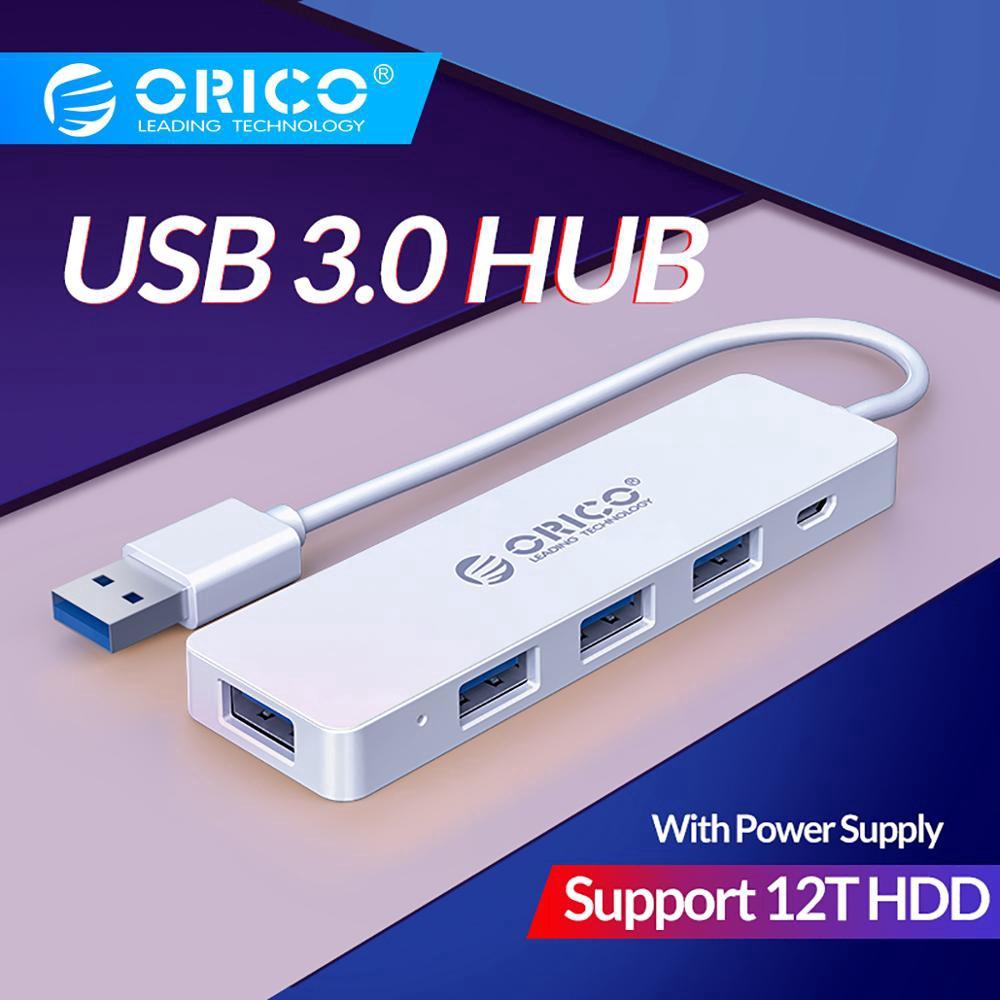 ORICO 4 Port USB 3.0 HUB External USB Splitter Micro USB Power Port OTG Function