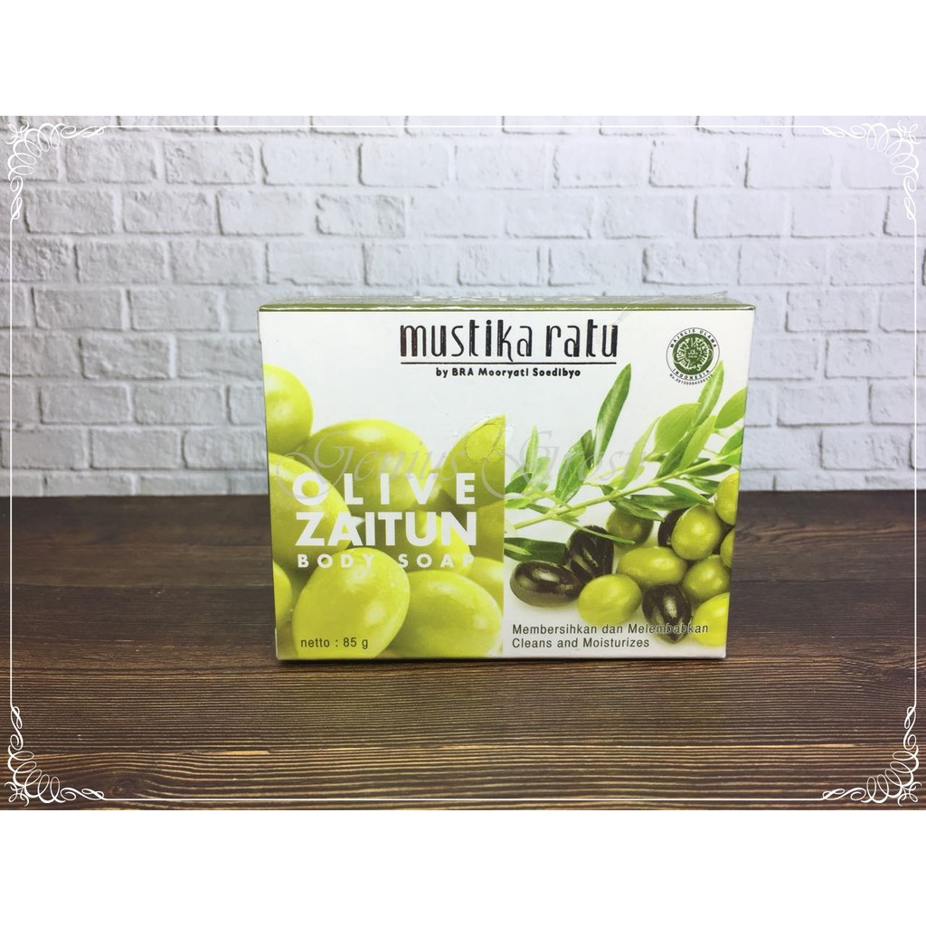 Original Mustika Ratu Olive Zaitun Body Soap 85gr Shopee Indonesia Pepaya
