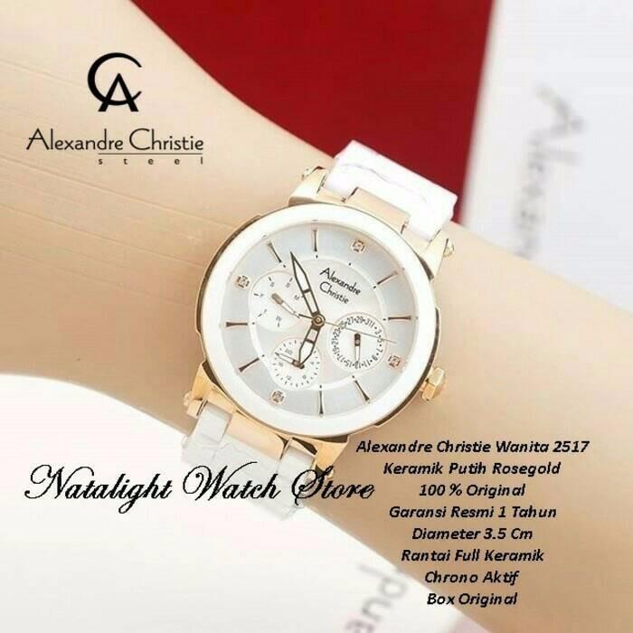 Jam Tangan Wanita Cewek Alexandre Christie AC 2562 Rosegold Black.Original  Garansi Resmi 1 Tahun  5d0b6c2d42