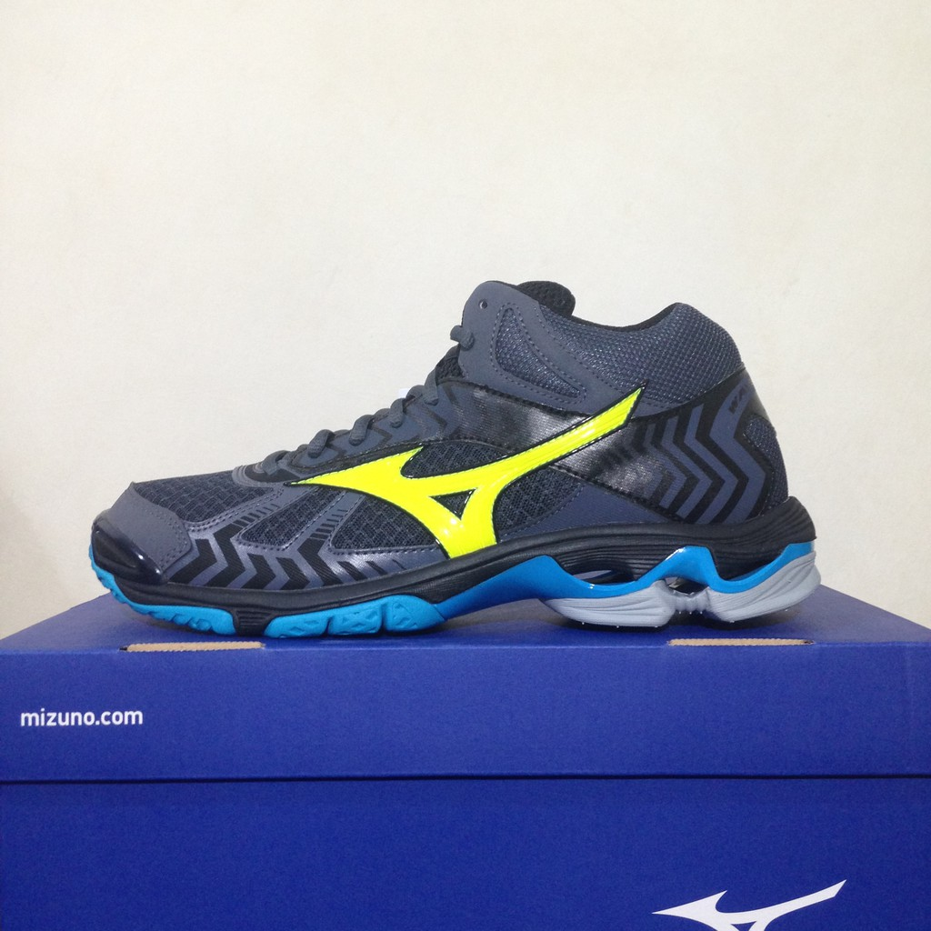 SEPATU VOLI MIZUNO WAVE BOLT 5 BLACK GREEN ORIGINAL  ad82974a35